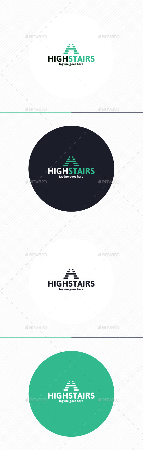 High Stairs Logo • Letter H - Letters Logo Templates
