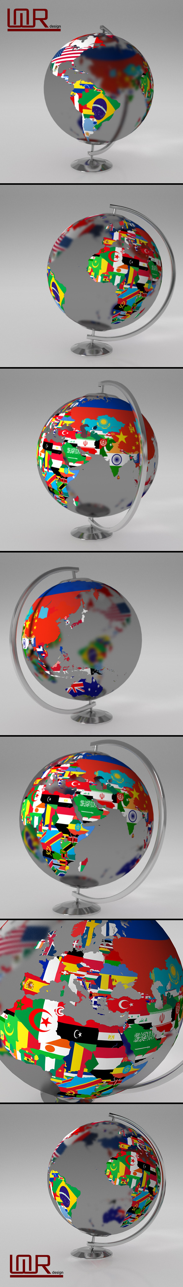 Earth globe world map with flags by umurdesign 3docean earth globe world map with flags 3docean item for sale gumiabroncs Image collections