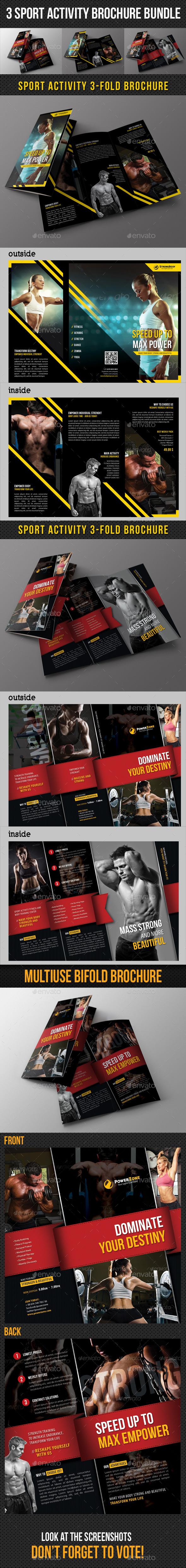 3 in 1 Sport Activity Brochure Bundle - Corporate Brochures