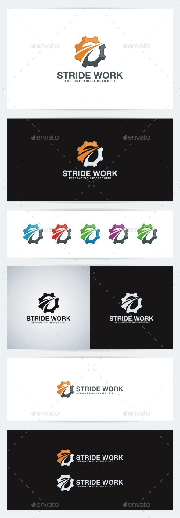 Stride Work - Objects Logo Templates