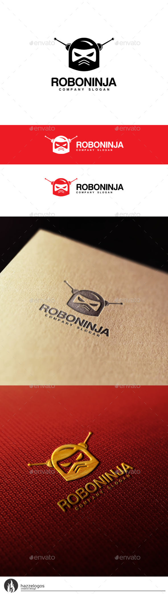 Roboninja Logo - Objects Logo Templates