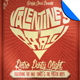 Valentine Retro Party Flyer Template