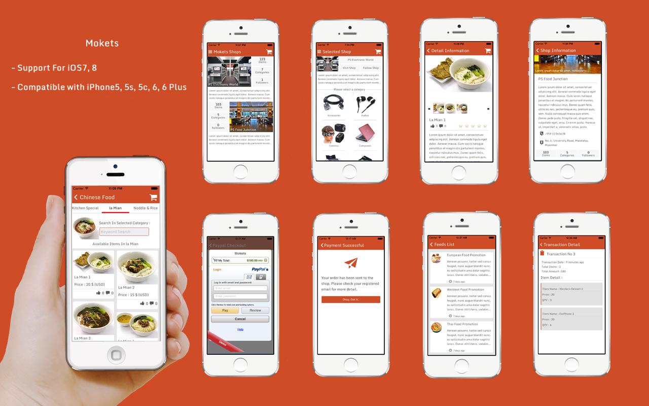 Mokets Mobile Commerce Full Application Using Titanium