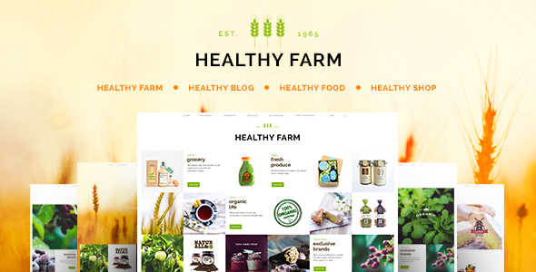 Healthy Farm | Food & Agriculture WordPress Theme