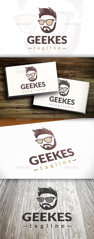 Modern Geek Logo - Humans Logo Templates