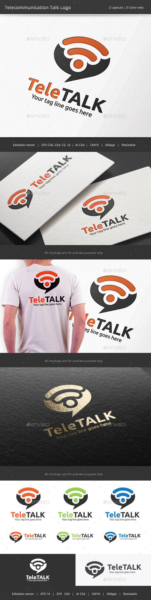 Telecommunication Talk Logo - Symbols Logo Templates