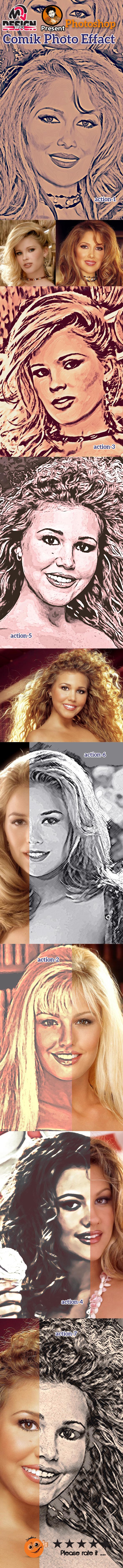 Comik Photo Effect - Actions Photoshop