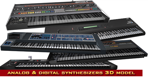 synths 3d models
