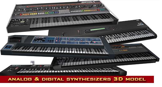 synths 3d models