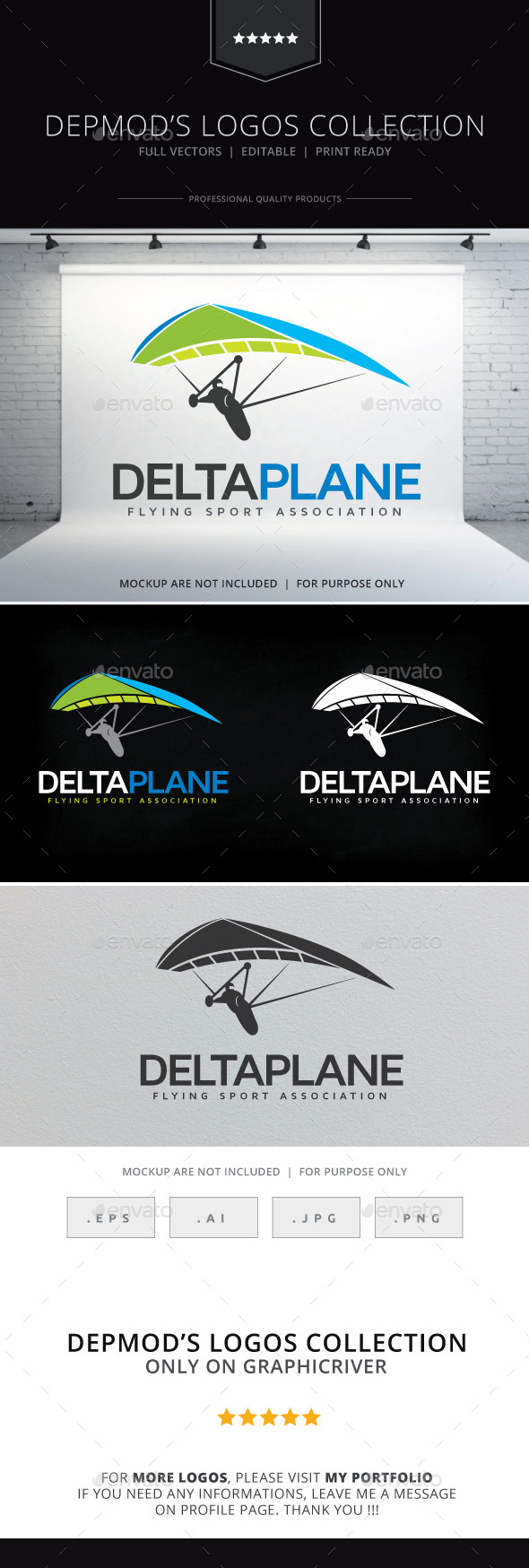 Deltaplane Logo - Objects Logo Templates