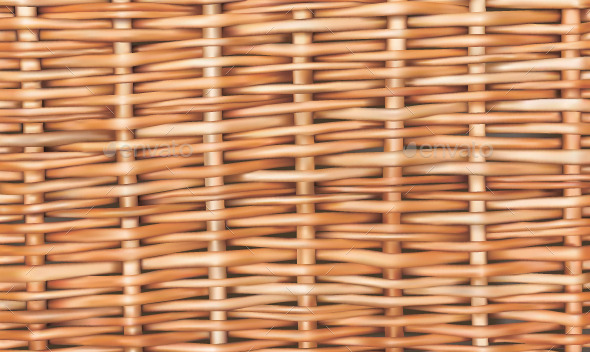 Wicker Seamless Background - Backgrounds Decorative
