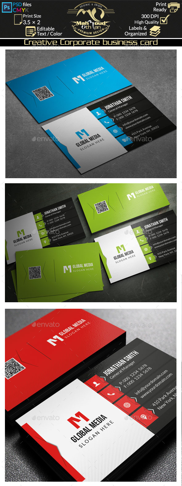 Creative Corporate Business Card 75 - Corporate Business Cards