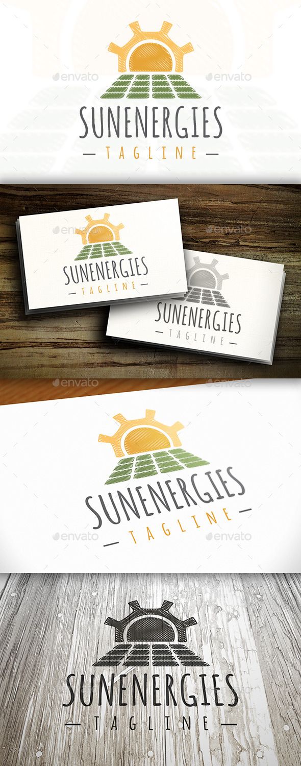 Sun Energy Logo - Nature Logo Templates