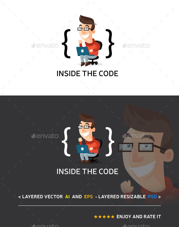 Inside The Code - Humans Logo Templates