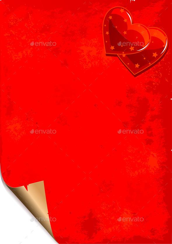Valentine Paper Grunge Background - Valentines Seasons/Holidays