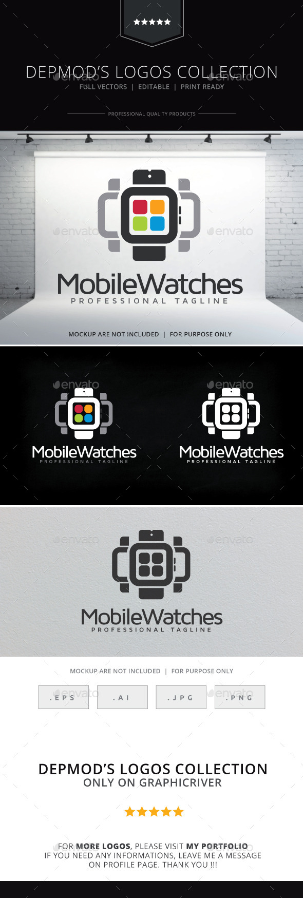 Mobile Watches Logo - Objects Logo Templates