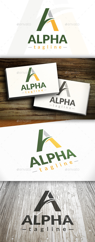 Alpha Letter A Logo - Letters Logo Templates