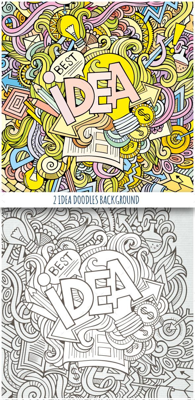 2 Idea Doodles Backgrounds - Concepts Business