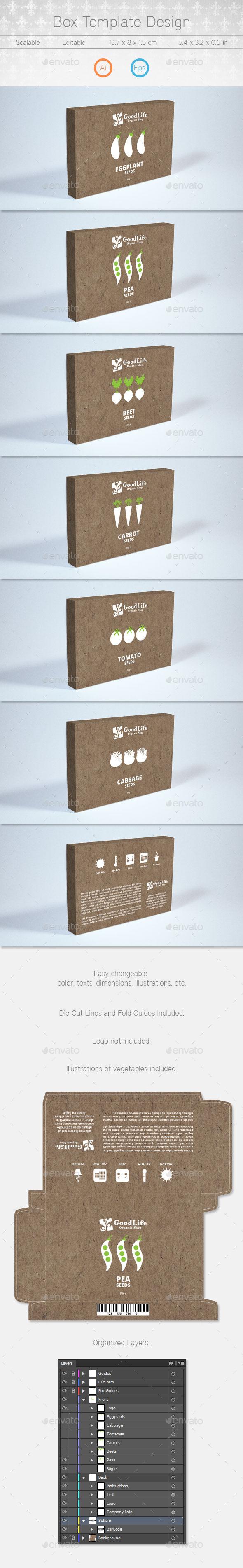 Box Template Design - Packaging Print Templates
