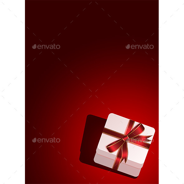 Background with Gift Box - Man-made Objects Objects