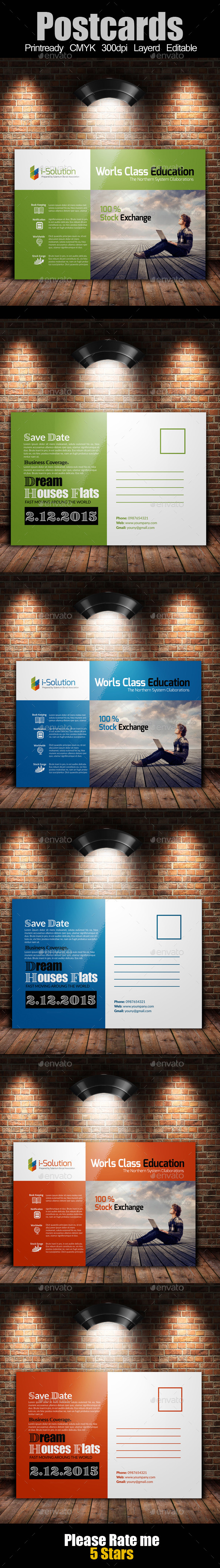 Education and Business Post Cards - Cards & Invites Print Templates
