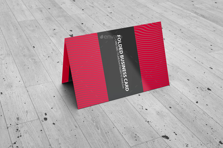 Folded Business Card Mockup V2 by BaGeRa