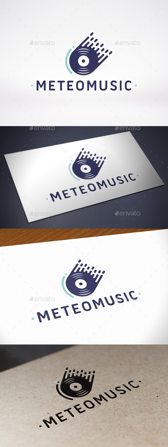 Meteor Music Records Logo Template - Symbols Logo Templates