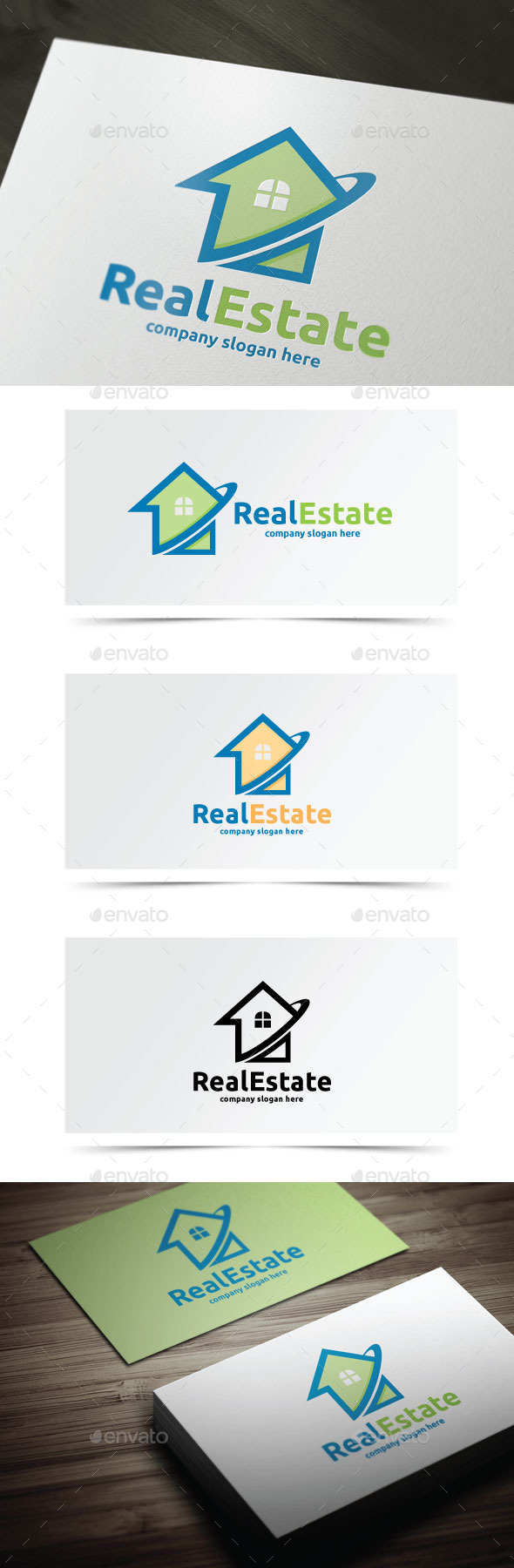 Real Estate - Buildings Logo Templates