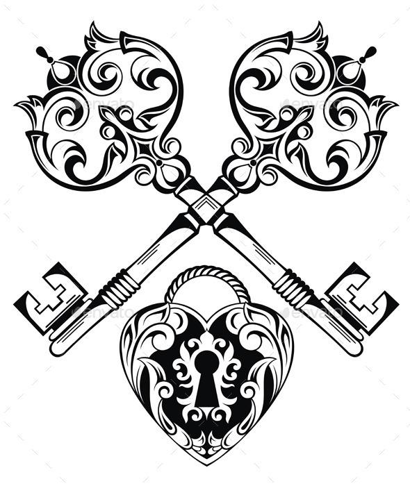 Love Illustration - Decorative Symbols Decorative