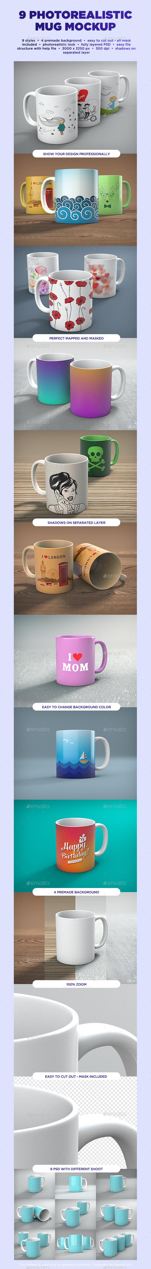 Mug Mock-up - Food and Drink Packaging