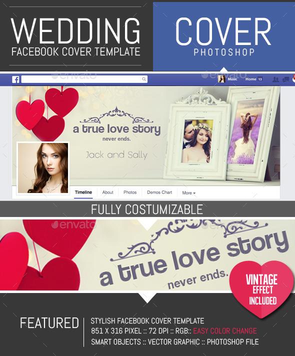 Wedding Frame Facebook Timeline Cover Template - Facebook Timeline Covers Social Media