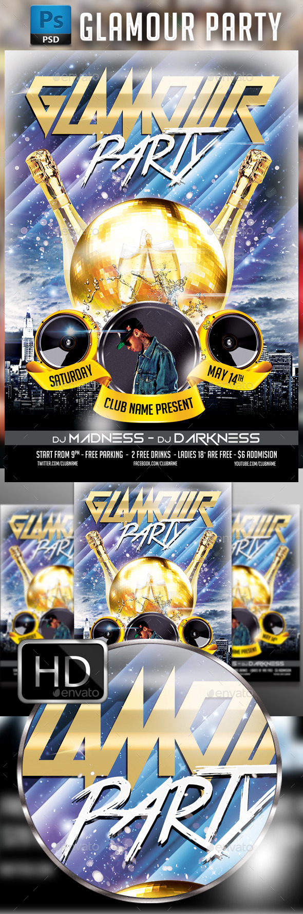 Glamour Party  - Clubs & Parties Events
