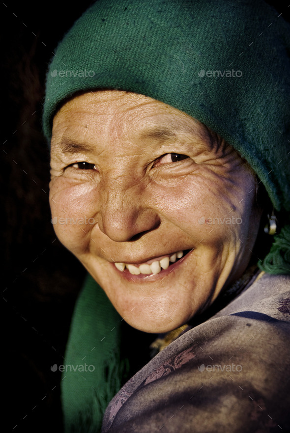 Mongolian Woman in Traditional Dress - Stock Photo - Images