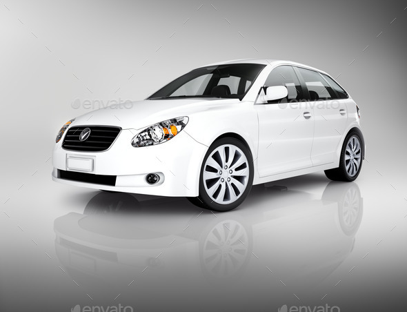 White Luxury Vehicle - Stock Photo - Images