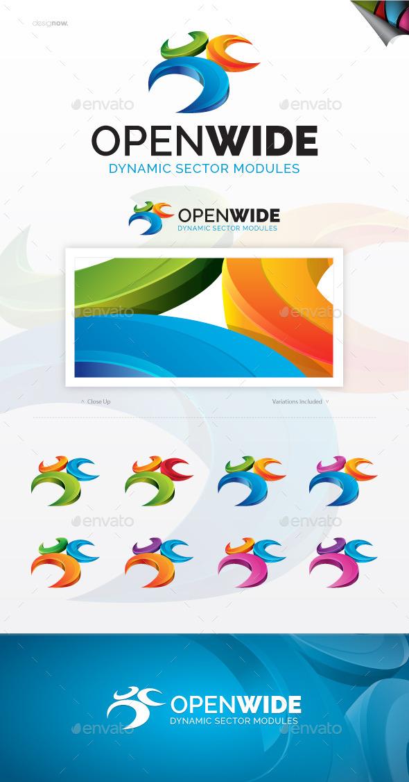 Open Wide Logo - Abstract Logo Templates
