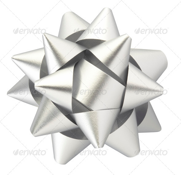 Silver bow - Stock Photo - Images