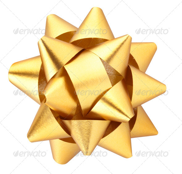 Gold bow - Stock Photo - Images