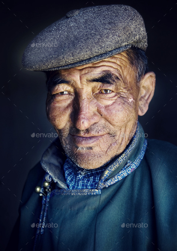 Mongolian Man in Traditional Dress - Stock Photo - Images