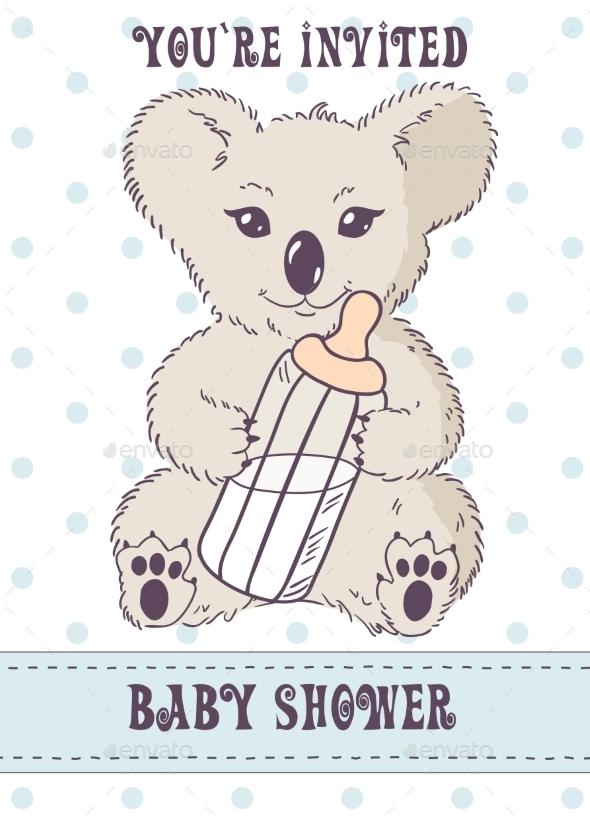 Koala with Bottle of Milk - Birthdays Seasons/Holidays