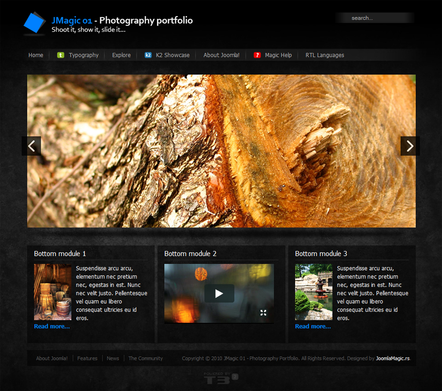 Free Download JMagic 01 - Photography Portfolio Nulled Latest Version