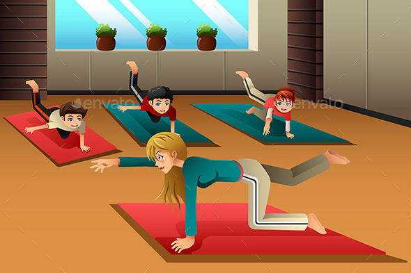 Kids in a Yoga Class - Sports/Activity Conceptual
