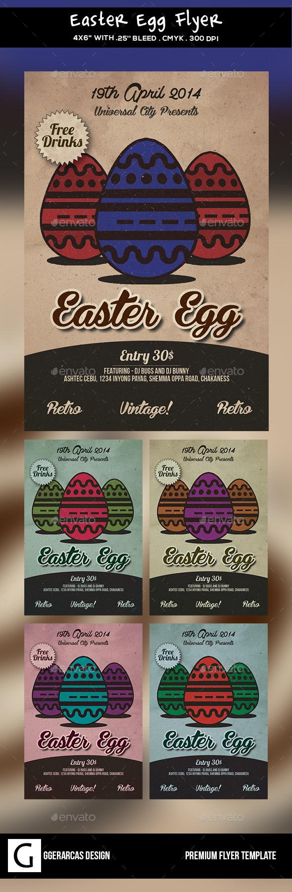 Easter Egg Flyer - Holidays Events