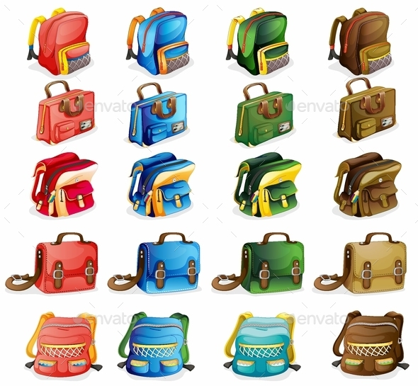 Various Bags - Man-made Objects Objects
