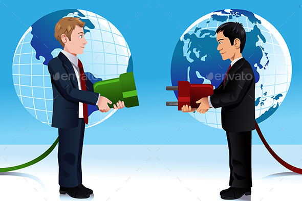 Business Concept of Connecting Eastern and Western - Concepts Business
