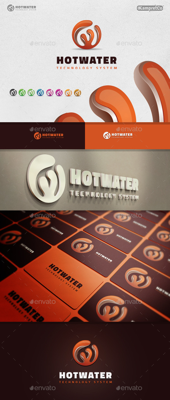 Hot Water Logo - 3d Abstract