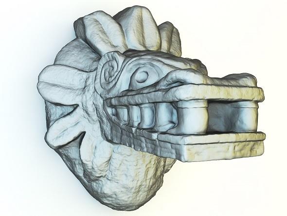 Mayan Sculpture - 3DOcean Item for Sale