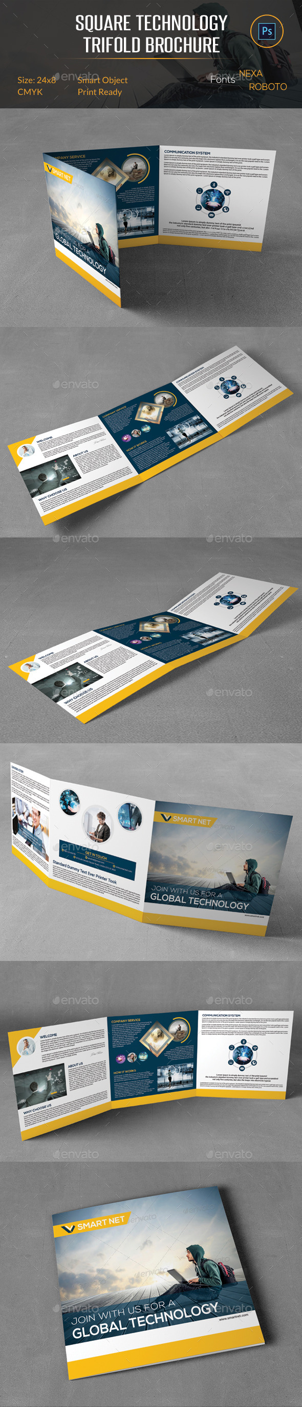 Square Technology Trifold Brochure - Corporate Brochures
