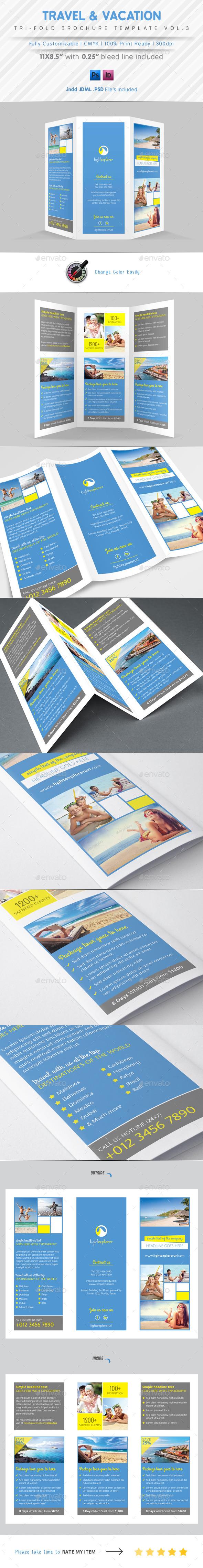 Travel Agency Tri Fold Brochure Vol.3 - Corporate Brochures