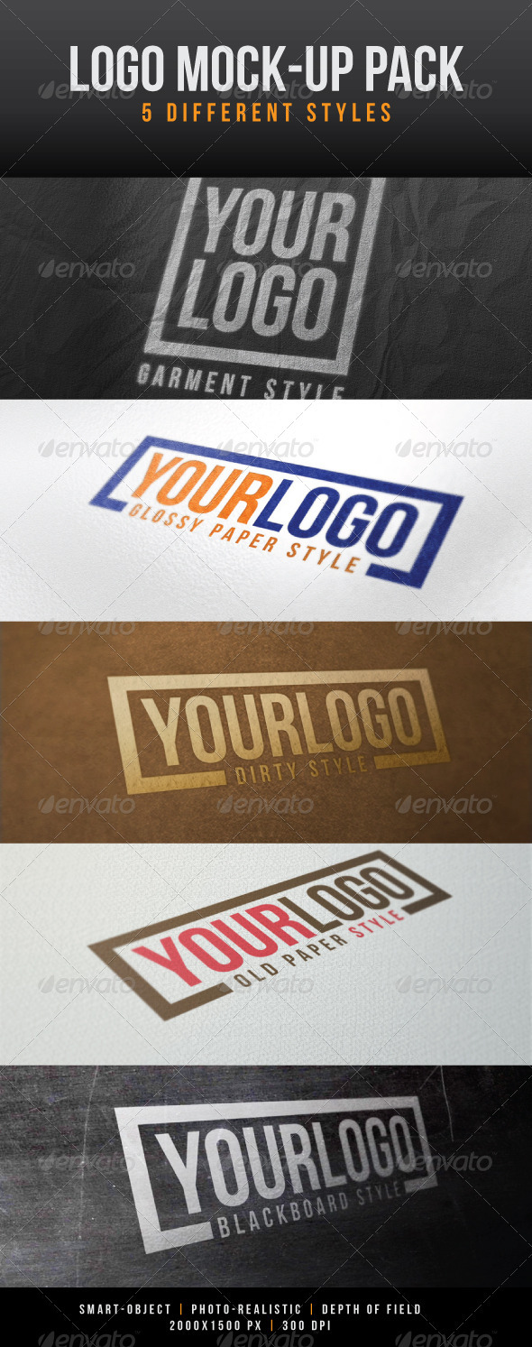 Logo Mock-Up Pack - Logo Product Mock-Ups
