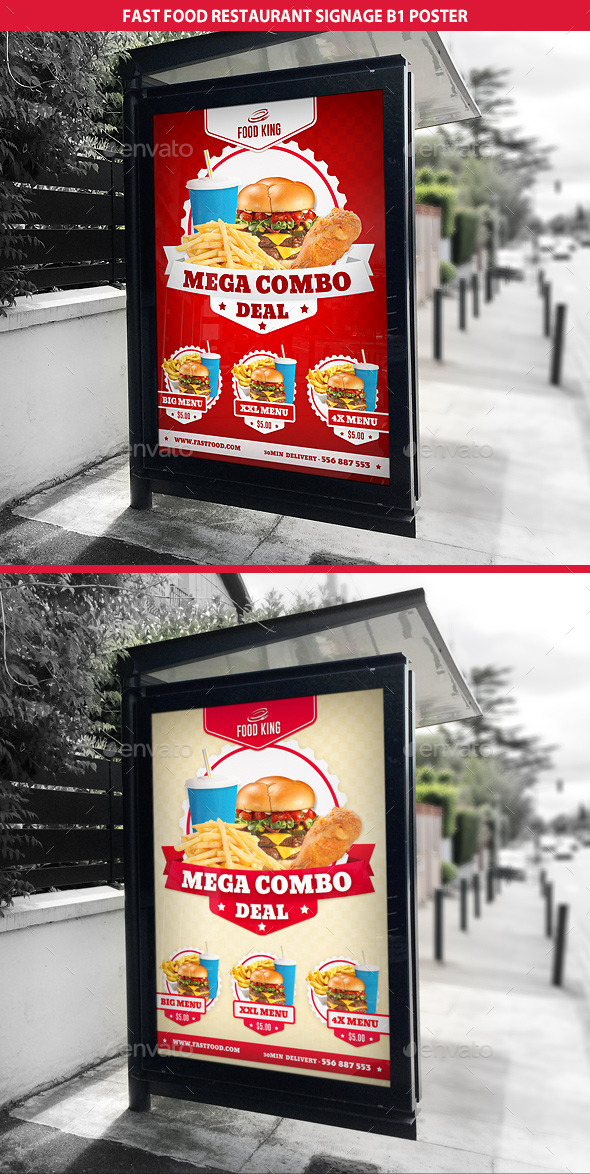 Restaurant Fast Food  Signage B1 Poster - Signage Print Templates